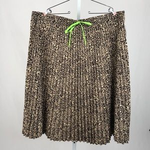 Wild Fable Pleated Animal Print Poly Skirt NWT 3X